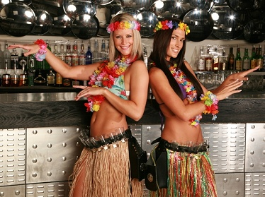 Hawaiian Themed Shot Girls